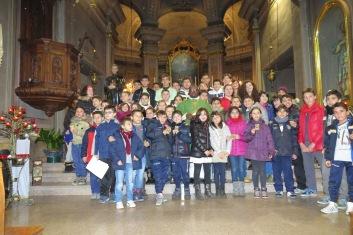 I bambini e i ragazzi dell'Oratorio festeggiano Don Bosco